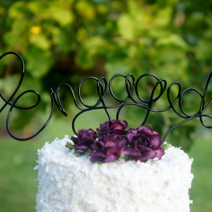 wire engaged cake topper