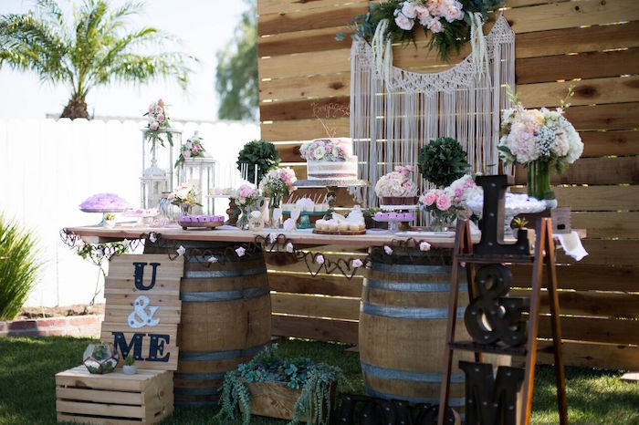 rustic bride shower decor