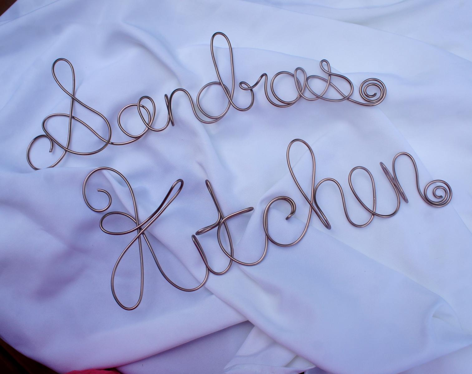 custom kitchen sign